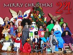 December (alegras dolls) Tags: christmas 16scale barbie hulk sixthscale advent fashiondoll minions cookiemonster penguin deer bunny angel nutcracker shrek christmastree stormtrooper bootybabe squirrel