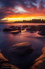 **Merry Christmas** (damian.mccudden1) Tags: seascapes landscapes nature fineart australia qld sunshinecoast sunset red orange light rocks clouds cloudy epic reflections buildings damianmccuddenphotography canon lit banger amazing summer december