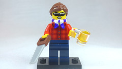 Brick Yourself Custom Lego Figure Cool Girl with Sunnies, Saw & Beer