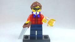 Brick Yourself Custom Lego Figure Cool Girl with Sunnies, Saw & Beer
