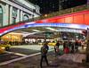 Grand Central Terminal NYC (sigi-sunshine) Tags: newyork unitedstates america amerika nyc grandcentralstation colorful bunt farbig neon neonlights pershingsquareplaza brücke bridge taxi cab urban bahnhof station bigapple manhattan