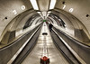Leaving 2017 and Approaching 2018 (Joseph Pearson Images) Tags: underground tube subway metro london bank station escalator vanishingpoint tunnel
