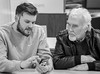 Grandad and Grandson. . . (CWhatPhotos) Tags: photographs photograph pics pictures pic picture image images foto fotos photography cwhatphotos that have which with contain mk digital camera lens micro four thirds em5 ii me man male portrait sigma 60mm art mft two son grandson dad granda family black white mono monochrome together chatting chat talking talk
