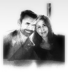 Fee and Chris Club filter b&w (caralan393) Tags: chris fee bw filters experimental clubbing suave
