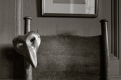 2_Devon-1686 (AndyG01) Tags: coletonfishacre devon nt natonaltrust mask bedroom monochrome blackandwhite toned