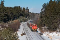 Cold T-Bird (shawn_christie1970) Tags: ironjunction minnesota unitedstates us tbird cn2119 cn2112 ge c408 rawore cold winter train ironrange