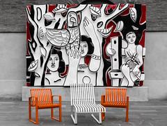 Tolosa - Vacanze 2017 (auredeso) Tags: tolosa toulose francia france color pass colorpass nikon d7100 sigma 1770 nikond7100 sigma1770 sedie dipinto quadro murales