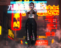 Red (Bambi Joyce) Tags: kowloon mossu gaia livalle randommatter kustom9 district 20 shi dura clemmm dappa kinky maitreya catwa catya bento sl second life fashion blogger event photography photoshop events bloggers neon red tattoos piercings alternative virtual girls reality 3d ootd lotd lookbook places landmarks