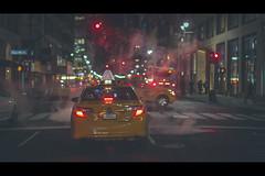 New York City Streets, Yellow Cab at Night, New York City, United States of America (iesphotography) Tags: newyork unitedstatesofamerica usa travel winter nyc ny bigapple travelphotography citybreak newyorkcity vacation location states stateside topofempirestate sunset empire worldtrade skyscraper