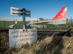 Café Society (Stoneybutter) Tags: airplane kent manston signage manstonairport england spitfire englishelectriclightningf6xr770