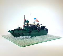 PBR (Project Azazel) Tags: pbr lego custom nam pa projectazazel brickarms unitedbricks legovietnammodel patrolboatriverine legoboat legonam legodarkgreen military legomilitarymodels legomilitary
