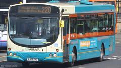 Arriva Yorkshire YJ08 DVU 1112 (WY Bus Spotter) Tags: arriva yorkshire yj08dvu 1112 west bus spotter wybs wright eclipse urban 220 leeds huddersfield morley heckmondwike cleckheaton station interurban livery volvo b7rle