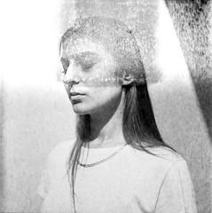 PHSQUAT_1940021 (newmandrew_online) Tags: girl filmisnotdead ishootfilm film filmphotografy film120 6x6 120mm mamiya mamiyac220 bw belarus blackandwhite beauty black minsk minimal minimalism face portrait svema