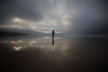 Centred (Pittypomm) Tags: 2017project52 week52 photographerschoice centred anonymousportrait sauntonsands beach devon sea waves sky clouds sunlight figure person shadow water lines