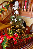 Staircase (Geoff Henson) Tags: nationaltrust sussex house mansion artsandcrafts christmas tree decorations stairs