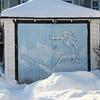 Off season (BruceK) Tags: surfing winter snow toronto garage snowbank cold surfergirl danfortheast