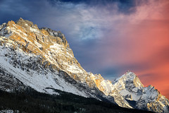The last gift ... (Gio_ guarda_le_stelle) Tags: dolomiti dolomiten dolomites mountainscape mountain landscape sunset sky clouds cielo fine inizio luce lights life atmosphere quiete quiet colors snow wind magic