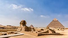 The Sphinx and the Pyramids (Sailor Of Da Seven Seas) Tags: nikon landscapes ancient desert egypt pyramids architectural sphinx