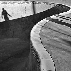precipice (jim_ATL) Tags: skateboarder shadow skate park concrete curve mosaic advanced bowl bw blackandwhite atlanta