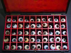 A Socket Set (Steve Taylor (Photography)) Tags: false eyes pupil artificialeye glasseye ocularprosthesis case selection blue green brown red white black glass uk gb england greatbritain unitedkingdom london
