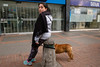 Bogota, Colombia (f.d. walker) Tags: 2017 americas bogota colombia latinamerica southamerica funny humor face expression dog dogs pet strange weird street streetphotography surreal candidphotography candid color colorphotography city colors woman