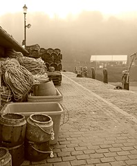 Through The Mists Of Time! ('cosmicgirl1960' NEW CANON CAMERA) Tags: ilfracombe devon fog mist winter coast harbour fishing tidal yabbadabbadoo 15challengeswinner
