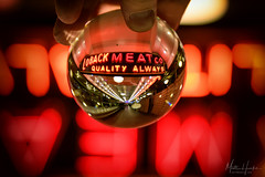 Quality Always (matthucke) Tags: lensball pikeplace pikeplacemarket lobackmeatco neon vintagesign seattle