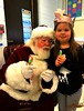 Santa came to school today (Lynn English) Tags: violet santa school violetmadeherhat
