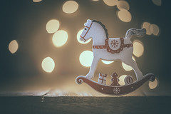 Christmas days (RoCafe Off for a while) Tags: christmas macro bokeh miniature toy horse decoration nikkormicro105f28 nikond600 setup stilllife rockinghorse
