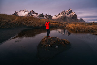 Photographer in Stokksnes