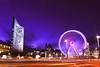 Leipzig City (steffen_brauer) Tags: leipzig nikon rollei nikkor weihnachten weihnachtsmarkt xmas christmas uniriese riesenrad langzeitbelichtung nacht beleuchtung winter sachsen lichtstreifen