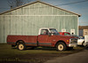 That 70's Show (HTT) (13skies) Tags: happytruckthursday truck garage repairs older chevrolet pickuptruck whiteroof wheels cool rusty rusted classic useful haul carry load truckthursday htt drive work rough beatup
