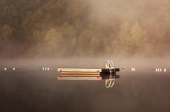 buoy boundaries (mnolen2) Tags: lake fog platform swim buoys summer ladder