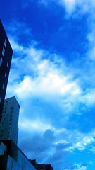 Clouds and Structures 1 (dMaculate) Tags: urban reflection structures city trafficlights buildings clouds architecture abstract glass lines sky boston ma unitedstatesofamerica usa abstracture impressionism blue