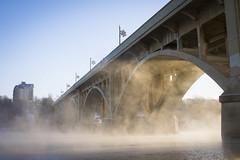 condensation (Trevor Pritchard) Tags: saskatoon saskatchewan december 2017 river watervapor mist condensation winter bridge canada cold yxe blackandwhite