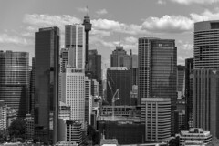 sydney close up (Greg Rohan) Tags: blackwhite blackandwhite bw sydneycity cityscape clouds d750 2017 nikkor nikon skyline skyscrapers skyscraper architecture monochrome sydney sky city buildings building