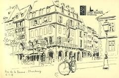 Rue de la Douane - Strasbourg (lolo wagner) Tags: croquis sketch usk urbansketchers strasbourg alsace rencontre
