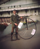Safety is not a primary aim for gentleman / Безопасность - не самое значимое для джентльмена (neverbe) Tags: 4x5 sinarp2 kodakaeroektar178mm25 largeformat film kodakportra160 c41 color historicalreenactment bike diy bicycle portrait selfmadec41developer