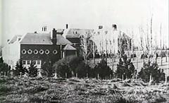 Allerton House showing Stable completed, Monticello, IL c1900 (RLWisegarver) Tags: piatt county history monticello illinois usa il