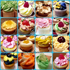 Happy New Year.  Assorted Fruit flavored Cupcakes-Sweettonescupcakes (Sweet Tones Cupcakes) Tags: sweettonescupcakes sweettonescc cupcakology cupcakes cupcake gourmetcupcakes losangeles gardenacalifornia sweets dessert assorted fruitflavors