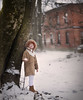 First snow (olgafler) Tags: snow girl fly house dress dream redhouse