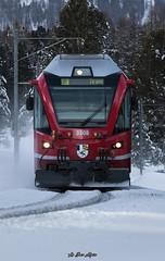 Rhätische Bahn (Le Bas Alpin) Tags: rhätischebahn abe812 rhb suisse rhätische bahn graubünden grisons albula bernina montagne snow suissetrains neige hiver engadin saintmoritz pontresina engadine