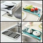 Draining Dish Rack Tray Plastic Kitchen Rack (Multicolor) – Linkyweb.com