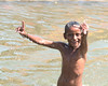 ecstatic (Journey CPL) Tags: india indian holy river gypsy pose posing smile sweet happy face wet bright boy ecstatic fun sun