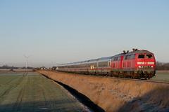 P1430649 (Lumixfan68) Tags: eisenbahn züge intercity ic deutsche bahn loks baureihe 218 dieselloks doppeltraktion marschbahn fernverkehr db
