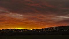 Alba - Morciano di Romagna (gio.cam) Tags: alba nuvole arancione rosso paese prati giallo sole mattino orizzonte ngc