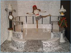 New Year 2018 on Ice (Mary (Mária)) Tags: barbie barbiestyle newyear2017 newyearseve handmade christmas winter snow ice iceskatingrink iceskating iceskates sweettea cityshine clock dollphotography toys dolls photography photoshoot candelabrum marykorcek