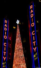Radio City Music Hall (charlie_guttendorf) Tags: guttendorf manhattan nyc newyork newyorkcity nikon nikon18200mm nikond7000 christmas christmasinnewyork christmastree happyholidays holidays neon neonlights radiocitymusichall