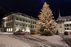 Weihnachtsbaum auf dem Rathausplatz im Winter mit Schnee in der Altstadt - Stadt Thun im Berner Oberland im Kanton Bern der Schweiz (chrchr_75) Tags: christoph hurni schweiz suisse switzerland svizzera suissa swiss chrchr chrchr75 chrigu chriguhurni chriguhurnibluemailch dezember 2017 dezember2017 albumzzz201712dezember winter hiver inverno schnee snow neige neve kantonbern berner oberland albumstadtthunnacht nacht night nuit notte albumstadtthunwinter stadtthun albumstadtthun kanton bern weihnachtsbaum weihnachten weihnachtsfest kerstboom christmas tree arbre de noël albero di natale