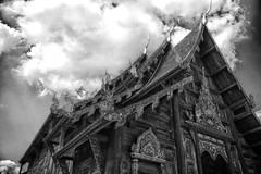Timber!!!!!! (J316) Tags: watphantao j316 timber teak thailand chiangmai hdr monochrome ancient historical temple palace buddhist
